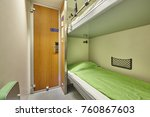 train berth indoor with two... | Shutterstock . vector #760867603