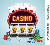 casino banner with a retro... | Shutterstock .eps vector #760868527