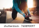 jogging and running are fitness ... | Shutterstock . vector #760890097