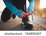 jogging and running are fitness ... | Shutterstock . vector #760890307
