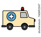 ambulance emergency vehicle | Shutterstock .eps vector #760892347