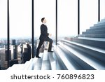 side view of businessman... | Shutterstock . vector #760896823