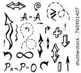 hand drawn mathematical... | Shutterstock . vector #760901407