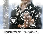 cloud computing integrate... | Shutterstock . vector #760906027