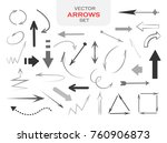 different arrows set | Shutterstock .eps vector #760906873