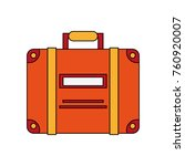 travel suitcase isolated | Shutterstock .eps vector #760920007