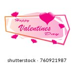 happy valentines day romantic... | Shutterstock .eps vector #760921987