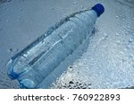 a bottle of pure water on water ... | Shutterstock . vector #760922893