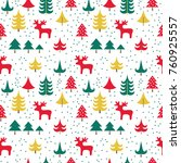 vector seamless pattern with... | Shutterstock .eps vector #760925557