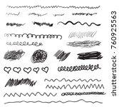 scribble brush strokes set ... | Shutterstock . vector #760925563