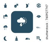 set of 13 editable climate...