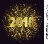 happy new year 2018. background ... | Shutterstock .eps vector #760930777