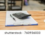 Small photo of Focus selection is soft and blurry.Meeting to sign the document, acknowledge and calculate the investment costs in business. The profit will be estimated in the future.