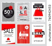 set of mobile banners for... | Shutterstock . vector #760942453