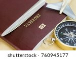 passports on the floor ... | Shutterstock . vector #760945177
