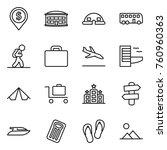 thin line icon set   dollar pin ...   Shutterstock .eps vector #760960363