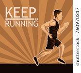 man running sport | Shutterstock .eps vector #760970317