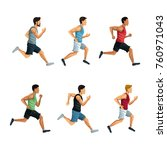 people running icons | Shutterstock .eps vector #760971043