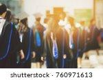 blurred image,the student graduation during commencement success graduates of the university, Concept education congratulation. Graduation Ceremony ,Congratulated the graduates in University.