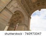 the arc de triomphe du...   Shutterstock . vector #760973347