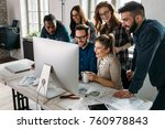software engineers working on... | Shutterstock . vector #760978843