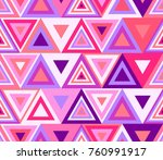 colorful triangles pattern ... | Shutterstock .eps vector #760991917