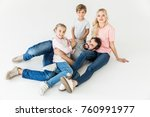 high angle view of happy young...   Shutterstock . vector #760991977
