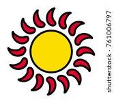 sun vector icon | Shutterstock .eps vector #761006797