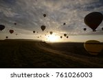 flying on the balloons early... | Shutterstock . vector #761026003