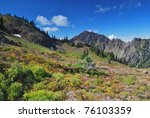 olympic national park mountain... | Shutterstock . vector #76103359