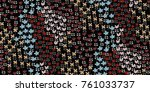 seamless floral pattern in...   Shutterstock .eps vector #761033737