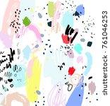 brush  marker  pencil stroke... | Shutterstock .eps vector #761046253