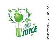 logo of fresh juice | Shutterstock .eps vector #761052223