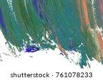 colorful oil art stroke design... | Shutterstock . vector #761078233