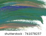 colorful oil art stroke design... | Shutterstock . vector #761078257
