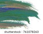 colorful oil art stroke design... | Shutterstock . vector #761078263