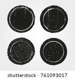 set of grunge post stamps...   Shutterstock .eps vector #761093017