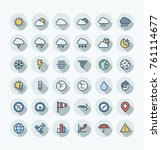 vector flat thin line icons set ... | Shutterstock .eps vector #761114677