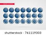 0 5 10 15 20 25 30 35 40 45 50... | Shutterstock .eps vector #761119303