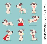 vector illustration of cute and ... | Shutterstock .eps vector #761121193