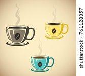 illustration of a glass of... | Shutterstock .eps vector #761128357