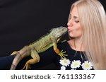 beautiful girl portrait and... | Shutterstock . vector #761133367