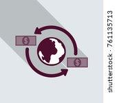 money transfer icon. around the ... | Shutterstock .eps vector #761135713