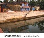 gokarna india. streets of the...   Shutterstock . vector #761136673