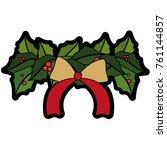 christmas flower design | Shutterstock .eps vector #761144857