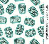 retro flip clock seamless... | Shutterstock .eps vector #761147683