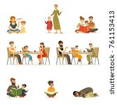 people characters of different...   Shutterstock .eps vector #761153413
