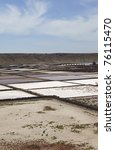 """Small photo of Saline """" Salinas de Janubio """" in Lanzarote . Lanzarote a Spanish island, is one of the Canary Islands, in the Atlantic Ocean, appr. 125 km off the coast of Africa."""