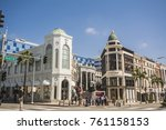Small photo of BEVERLY HILLS, LOS ANGELES, CA - SEP 18, 2017: Rodeo Drive in Beverly Hills. Rodeo Drive is an affluent shopping district known for luxury brand and designer label fashion.