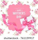happy mothers day. vector... | Shutterstock .eps vector #761159917